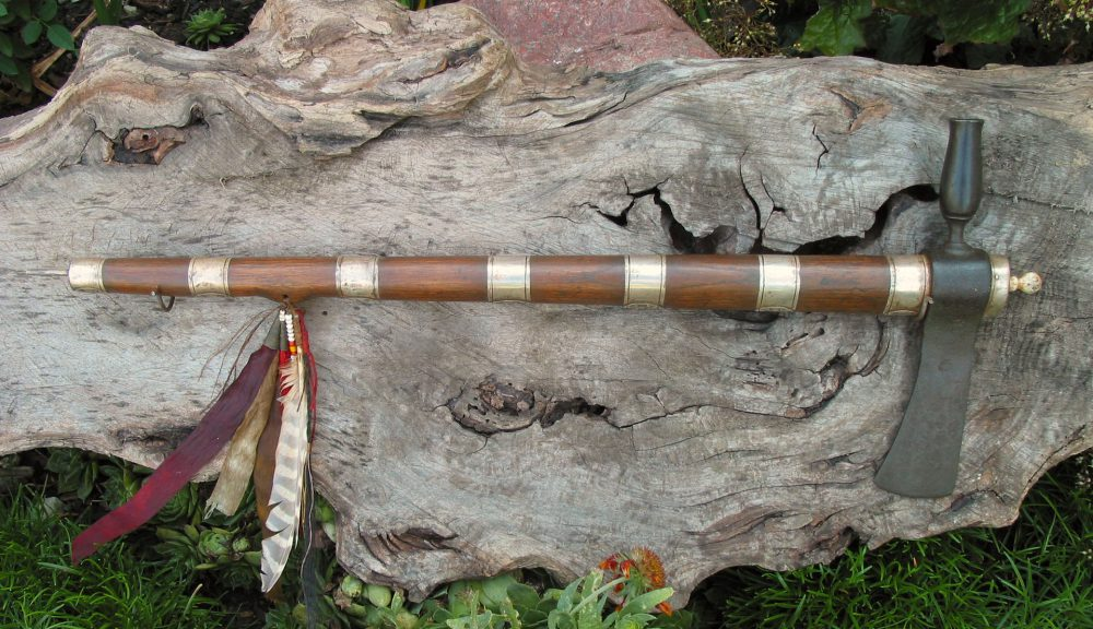Silver Banded Pipe Tomahawk