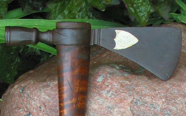 Silver Inlaid Poll Axe Head
