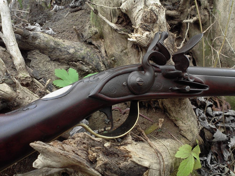 1690s English Officers Carbine Flintlock Lock Side