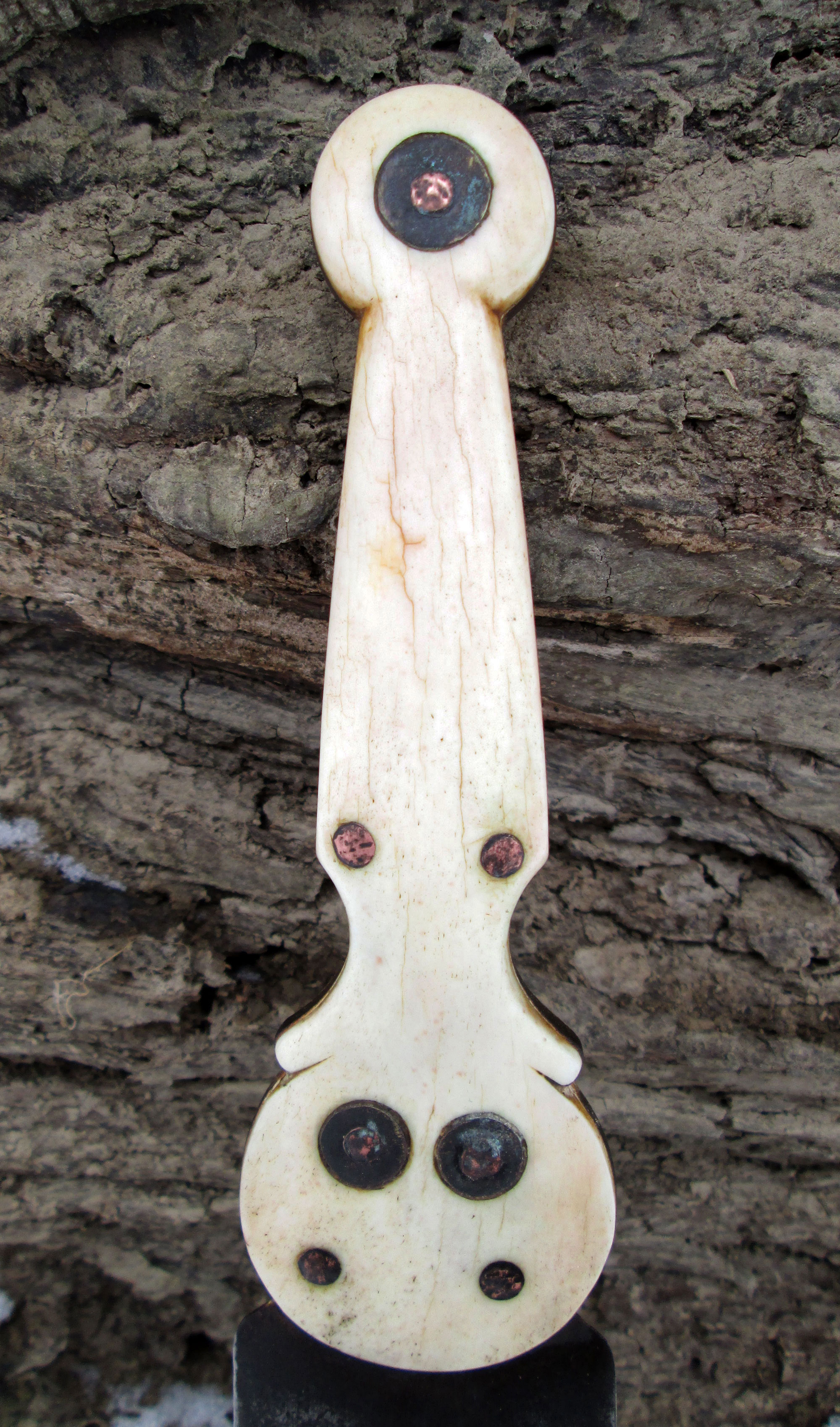 Bone Athabascan Dagger Side 1