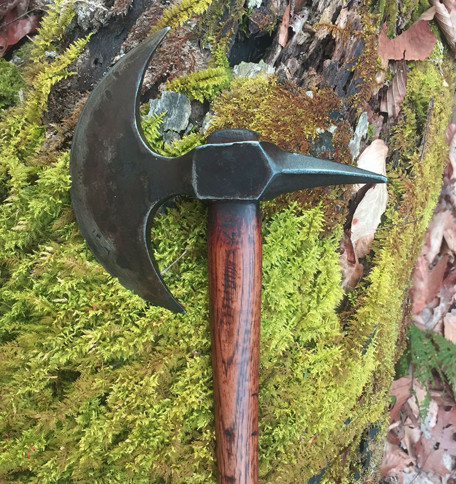 Crescent Spike Axe - Handle Added
